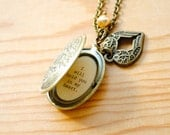 Memorial Locket - Until I can hold you in my arms I will hold you in my heart - Miscarriage Necklace, Goodbye Gift, Army Wife