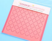 Small Quatrefoil Cookie Stencil, Sugar Cookie Stencil, Quatrefoil Fondant Stencil, Cookie Countess Cookie Stencil, Damask Stencil