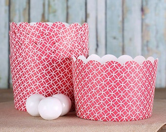 Jumbo Red Baking Cups, Large Muffin Cups, Christmas Baking Cups, Dessert Cups, Large Cupcake Cups, Wedding Favor Cups, Popcorn Cups (12)