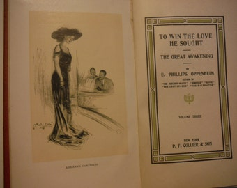 1912 Antique Book To Win The Love He Sought Edwardian E. Phillips Oppenheim
