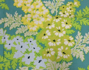 Heather Bailey Picnic Bouquet, blue, Nicey Jane, OOP, rare, vhtf, floral fabric, early Westminster, by the half yard