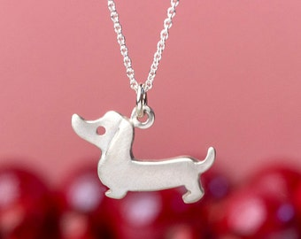 Dachshund Necklace Dog Necklace Weenie Dog Pendant sterling silver Jewelry sausage dog necklace pet necklace
