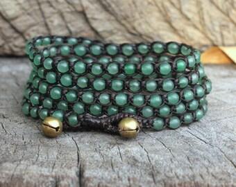 Jade 5 Wrap Bracelet