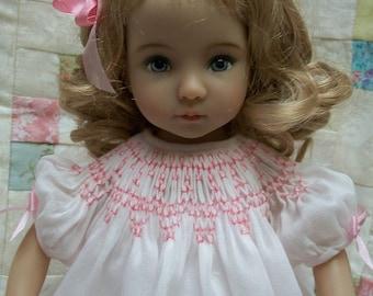 """PDF Pattern for Bishop Smocked Dress 11"""" to 14"""" Doll Effner Little Darling, Bleuette. Kish"""