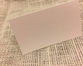 100 Blank Place or Escort Cards - Ivory Linen or Ivory Pearl Shimmer cardstock - Ships Same or Next Day!!!