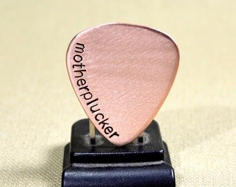 Copper motherplucker guitar pick for one plucking amazing guitarist - GP713