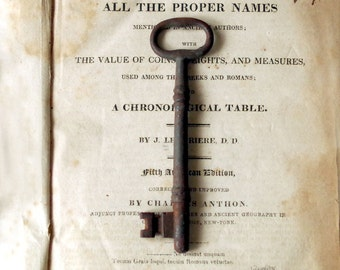 Antique Iron Skeleton Key - Large Grungy Key
