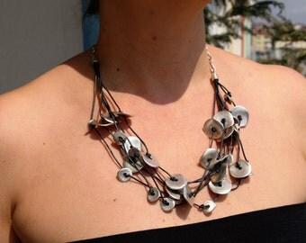 Statement Necklace - Choker Bib Necklace - Tribal Necklace - Yoga Necklace - Boho Necklace - Bohemian Chic - Boho Necklace - boho jewelry