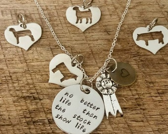 Stock Show Life Livestock Charm Necklace