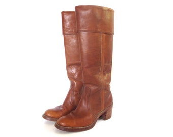 Vintage FRYE Women's Leather Boots // Size 6 1/2