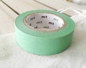 Solid Mint Washi Tape Japanese Mint masking tape  (190) - PrettyTape
