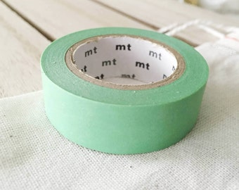 Solid Mint Washi Tape Japanese Mint masking tape  (190) - PrettyTape