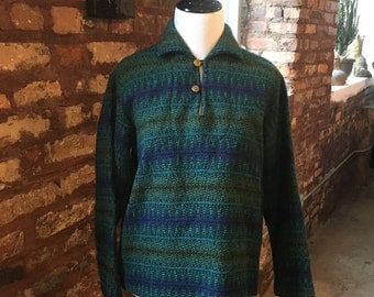 1960s vintage wool pullover beach bum knit top