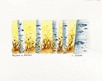 Original Landscape Watercolor Art Card - Paintings for Sale