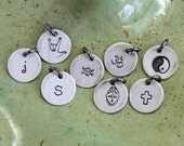 Personalized Custom Sterling Silver Tag Charm