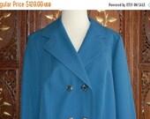 ON SALE Vintage 60s Trevira Gabardine Mod Twiggy Courreges Rain Coat