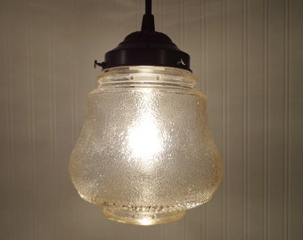 Clear Vintage PENDANT Light Lamp Lantern Kitchen or Bathroom