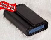 Premium 3DS XL Hard Case Black plus  Faux Suede with Clear Vinyl Game Slots