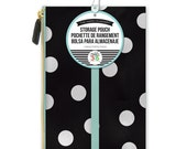 Accessory Pouch with Elastic Band • White Scattered Dot Create 365 Happy Planner Pouch • Zippered Storage Pouch (PLSB-05)