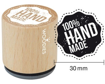 """100% Handmade Rubber Stamp • Woodies Mounted Rubber Stamp 1.35"""" (W05003)"""