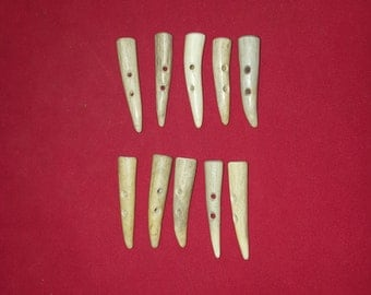 10 button toggle deer antler lot 58