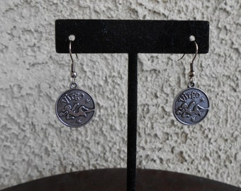 Zodiac Medallion - Virgo - Earrings