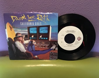 "SHOP CLOSING SALE Vinyl Record David Lee Roth - California Girls 7"" 45 Single 1985 Van Halen"