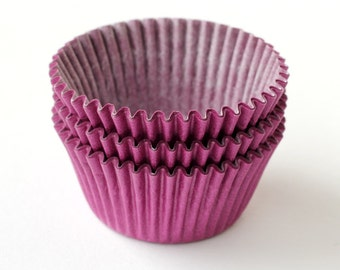 Purple Cupcake Liners (50), Purple Baking Cups, Birthday Party Cupcake Liners, Solid Purple Liners