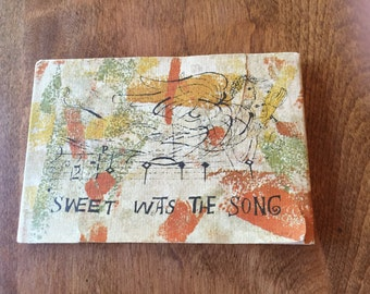 Vintage - Sweet Was the Song - by Ben Shahn - Collectors  Book - Holiday Reading - English Christmas Carol - Beautifully Illustrated