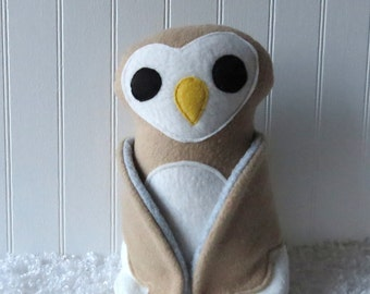Barn Owl, Plush Owl, Toy Owl, Owl Doll