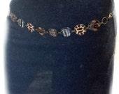 BROWN sexy metal chain hip belt