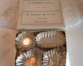 Vintage Tartlet Tins Made In Sweden ~ 24 Mormatt  no. B213 ~ Baking Supplies ~ Assorted Shapes Of Small Tins ~ Repurpose, Craft Supplies