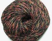 Debbie Bliss Boheme Puccini 01 Black Orange Brown Wool Blend Chainette Yarn