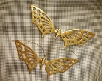 A Pair of Brass Butterflies