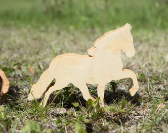 Mustang - Horse - Wood Horse - Waldorf - Handmade Toy - Wooden Toy - Stallion - Natural Horse - Organic Horse - Natural Toy