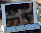 Mini ipad Holder, Nexus Holder, Device Holder, Rustic Wooden Birch