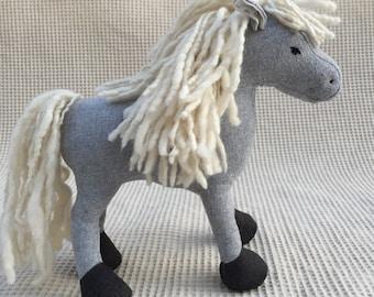 Plush Fabric Horse Waldorf Toy