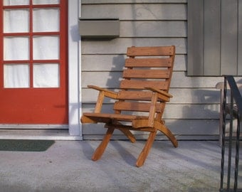 High Back Cedar ArmChair Lounge Chair for Garden & Patio - Storable! - Choose from 12 Beautiful Stain Colors - handcrafted by Laughing Creek