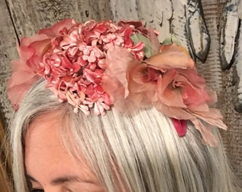 Vintage Hat with Flowers
