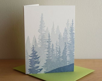 Pacific Northwest Forest Letterpress Card (Pack of 6)