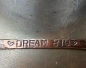 Dream Big Hand Stamped Bar Necklace