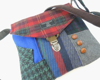 Crossbody bag, Crossbody Purse, Recycled Crossbody Purse, Handbag, Recycled wool, iPhone pocket,Recycled mens suit coat