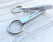 Handstamped key chain