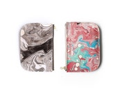Tonala Pequena Zip Wallet - Black or Creamsicle Marble