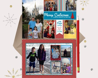 Vacation Christmas Cards -- double sided -- show off your photos from a GREAT vacation!