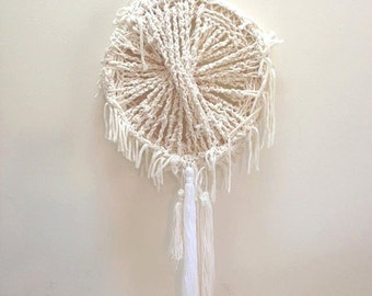 Macrame Knotted Cotton Rope Hanging Mobile