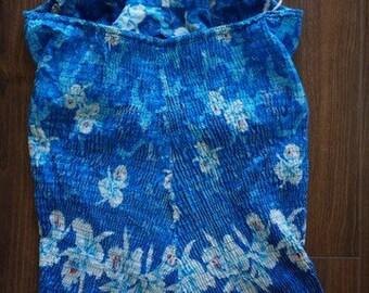 R  A  R E Vintage plus size 1950s 'Miss Hawaii' hawaiian swimsuit romper xl xxl