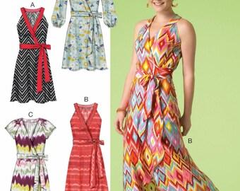 Wrap Dress Patter, Wrap Sundress, Long Dress, McCall's Sewing Pattern 7119