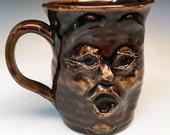 Funny Face Mug Handmade Stoneware