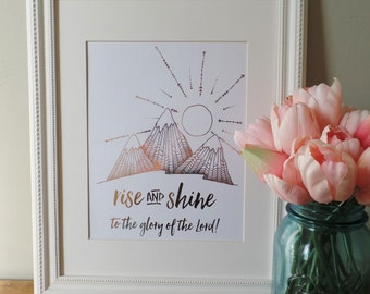 Rise and Shine, 8x10 Real Foil Print